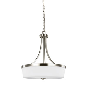 Hettinger Brushed Nickel 19-Inch Three-Light Pendant