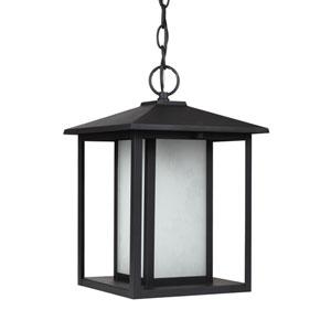 Hunnington Black 9-Inch One-Light Outdoor Pendant