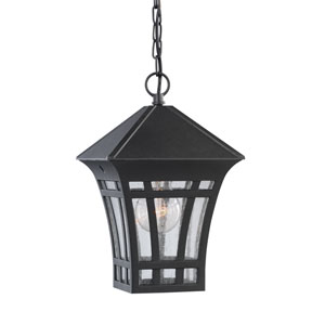 Herrington Black 7-Inch One-Light Outdoor Pendant