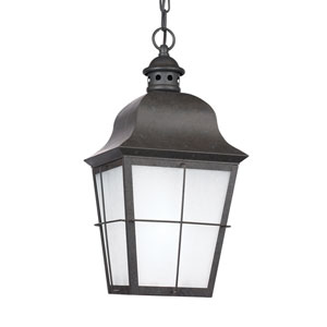 Chatham Oxidized Bronze 9-Inch One-Light Outdoor Pendant