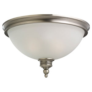 Laurel Leaf Antique Brushed Nickel Flush Mount Ceiling Light