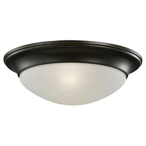 Nash Heirloom Bronze Two-Light Flush Mount