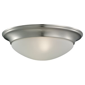 Nash Brushed Nickel Two-Light Flush Mount