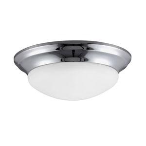 Nash Chrome 4.5-Inch Two Light Fixture Flush Mount