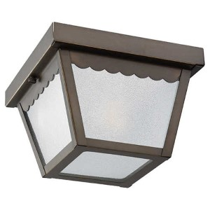 Antique Bronze One-Light Outdoor Flush Mount