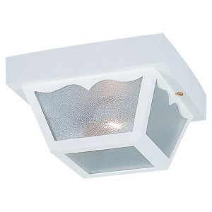 White Two-Light Outdoor Flush Mount