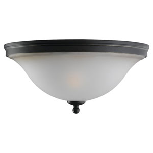 Gladstone Heirloom Bronze Two-Light Ceiling Light