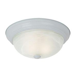 Windgate White One-Light Flush Mount