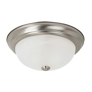 Windgate Brushed Nickel Two-Light Flush Mount