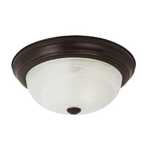 Windgate Heirloom Bronze Three-Light Flush Mount