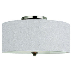 Stirling Two-Light Brushed Nickel Flush Mount