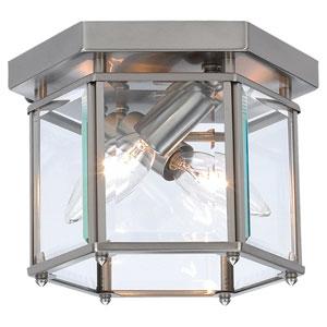 Bretton Brushed Nickel Small Flush Mount Ceiling Light