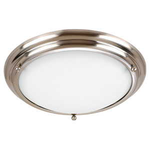Center Stage Brushed Stainless Three-Light Ceiling Light