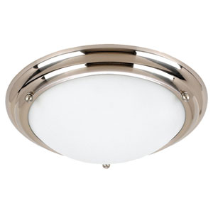 Centra Small Brushed Stainless Flush Mount Ceiling Light