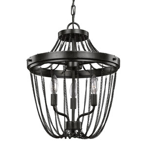 Kelvyn Park Stardust Three-Light  Semi-Flush Convertible Chandelier