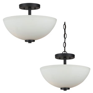 Oslo Blacksmith Two-Light Semi-Flush Mount