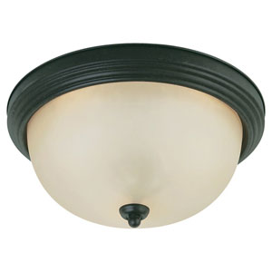 Del Prato Chestnut Bronze Two-Light Flush Mount