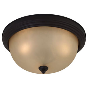 Del Prato Chestnut Bronze Three-Light Flush Mount