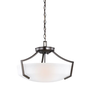 Hanford Burnt Sienna Three-Light Pendant