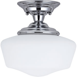 Academy Chrome  One-Light Close to Ceiling Light