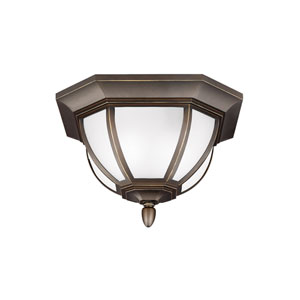 Childress Antique Bronze Two-Light Outdoor Flush Mount