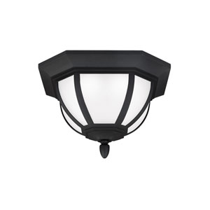 Childress Black Outdoor LED Flush Mount