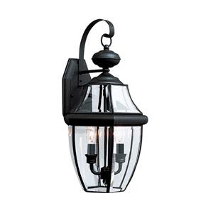 Lancaster Black 10-Inch Energy Star Two-Light Outdoor Wall Lantern