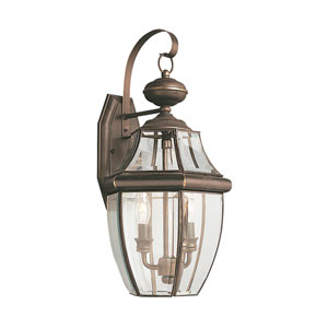 Lancaster Antique Bronze 10-Inch Energy Star Two-Light Outdoor Wall Lantern