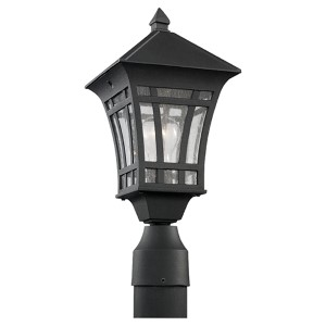 Herrington Black One-Light Outdoor Post Lantern