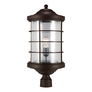 Sauganash Antique Bronze One Light Outdoor Post Lantern