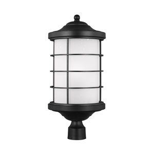 Sauganash Black 10.5-Inch One-Light Outdoor Post Mount