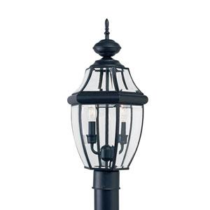 Lancaster Black 10-Inch Energy Star Two-Light Outdoor Post Lantern