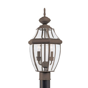 Lancaster Antique Bronze 10-Inch Energy Star Two-Light Outdoor Post Lantern