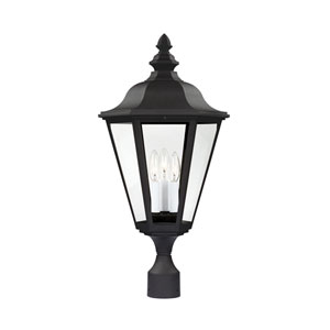 Brentwood Black 13-Inch Energy Star Three-Light Outdoor Post Lantern