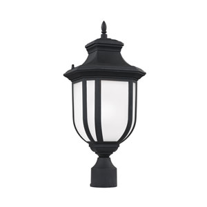 Childress Black 9-Inch One-Light Outdoor Post Mount