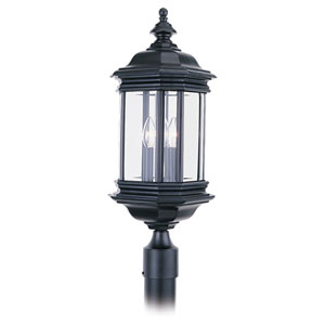 Hill Gate Outdoor Black Post Mount