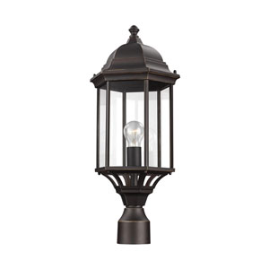 Sevier Antique Bronze 9-Inch One-Light Outdoor Post Lantern