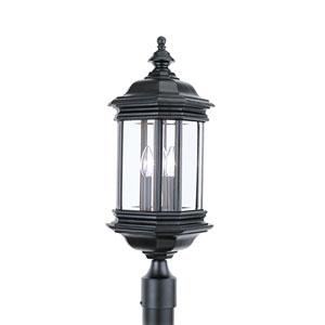 Hill Gate Black 8.5-Inch Energy Star Three-Light Outdoor Post Lantern