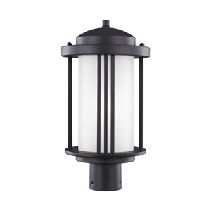 Crowell Black 9-Inch One-Light Outdoor Post Mount