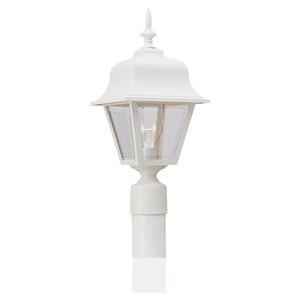 White One-Light Outdoor Post Mount