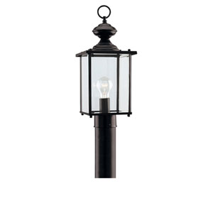 Jamestowne Black One-Light Outdoor Post Lantern