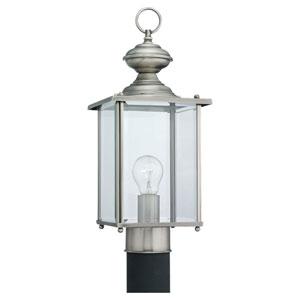 Jamestowne Antique Brushed Nickel Outdoor Post Mounted Lantern