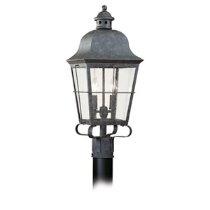 Colonial Bronze Two-Light Outdoor Post Mount