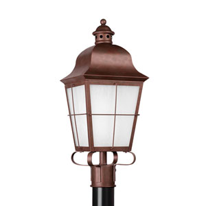 Chatham Weathered Copper 9-Inch One-Light Outdoor Post Lantern