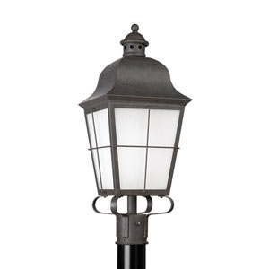 Chatham Oxidized Bronze 9-Inch One-Light Outdoor Post Lantern