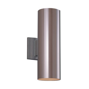 Outdoor Cylinders Five-Inch Bronze Two-Light Outdoor Wall Mount