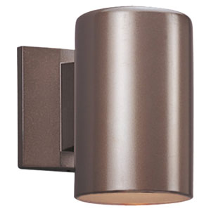 Outdoor Bronze Five-Inch One-Light LED Wall Lantern
