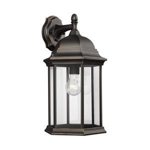 Sevier Antique Bronze 9-Inch One-Light Outdoor Wall Lantern
