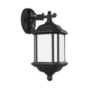 Kent Black 6.5-Inch One-Light Outdoor Top Mounted Wall Sconce