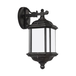 Kent Oxford Bronze 6.5-Inch One-Light Outdoor Top Mounted Wall Sconce